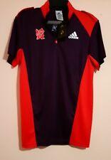 London 2012 OLIMPIADI TEAM GB Viola Rosso Zip Collo Polo Adidas taglia S nuova con etichetta