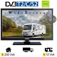 Wohnmobil Campig Fernseher 22 Zoll DVB/S/S2/T2/C, DVD, USB, 12 V 230 Volt 17W