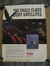TRW Outer Space & Technology Eagle Class Light Satellites Vintage 1991 Poster