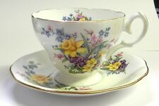 "Queen Anne's ""Spring Song"" Fine Bone China Tea Cup & Saucer Made in England"