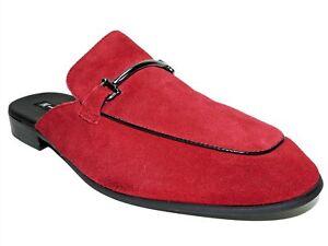 INC International Concepts Men's Blaze Mules Red Suede Size 13 M