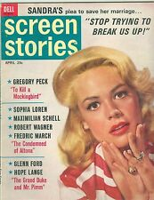 Sandra Dee SCREEN STORIES magazine 1963 To Kill A Mockingbird Gregory Peck