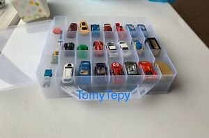 Hot Wheels 48 Cars Double Sided storage Organizer Carrying Container Case Clear
