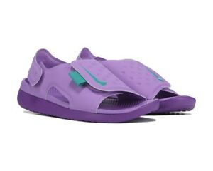 NIKE SUNRAY ADJUST 5 (GS/PS) kids violet sandals boys girls sz 5 Youth NWT