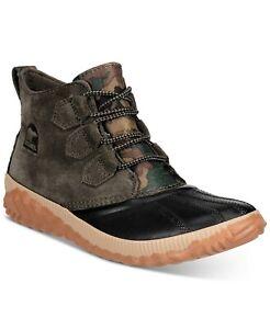 Sorel Women's Rain Boot Olive Green Camo Black Waterproof Sz 6.5 9.5 11 NEW