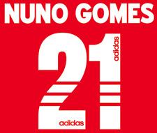 Benfica Nuno Gomes Nameset Shirt Soccer Number Letter Heat Print Football 1997 H