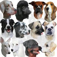 Latex Animal Dog Dalmatian Boxer Rottweiler Pug Labrador Poodle Fancy Dress Mask