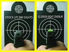 Ruger LCP 380 sight vinyl stickers Green and Orange