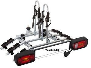 Super Deal ! Titan 3 Bike Rack / Cycle Carrier Towbar Mounted Tilting 13pin plug