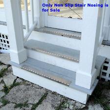"Single Pc Silver Aluminium Non-Slip Nosing with Screws 30"" x 2.75"" x 1.125"""