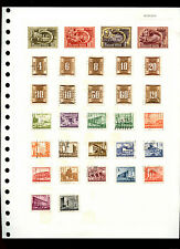 Hungary Album Page Of Stamps #V4919