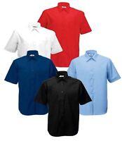 Fruit Of The Loom Mens Men's Poplin Buttons Plain Cadat collar Shirts