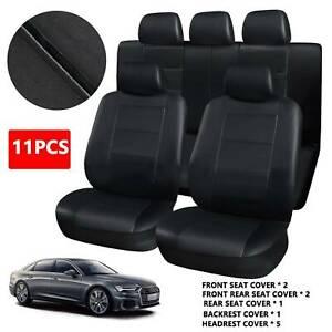 Universal Car Seat Covers Set Neoprene WATERPROOF Full Seat Airbag Black