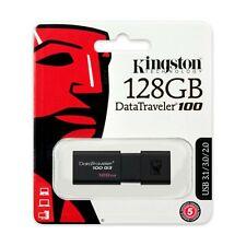 Kingston DT100G3/128GB 128GB USB3.0 DataTraveler 100 G3 - Black