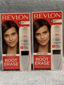 Revlon Permanent Root Erase #3 Black Matches Leading Black  Shades (Lot Of 2)