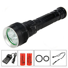 SKYRAY 9000LM 5x CREE XM-L L2 LED Scuba Diving Flashlight Torch Light 26650 100M