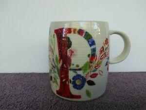 "Starla Halfmann Petal Palette Monogram Mug Letter P 12 oz 4"""
