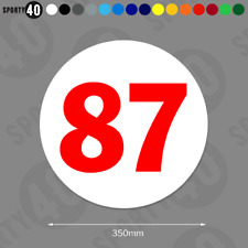 Round Race Number - 1 x 350mm - Vinyl Decals / Stickers Racing Classic 6103-0119