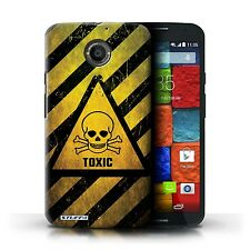 STUFF4 Phone Case for Motorola X & Z Smartphone/Hazard Warning Signs/Cover