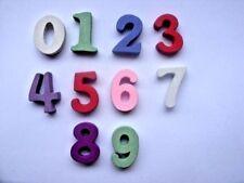 50 pcs Mixed Numbers Wood  Scrapbooking // Educational   15mm