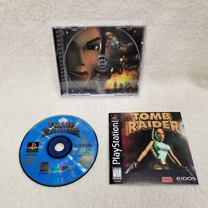 ⭐Tomb Raider Sony PlayStation 1 Black Label Complete Tested Authentic⭐👀