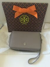 Tory Burch York Multi Task Iphone 6 plus Wristlet Wallet French Gray Authentic