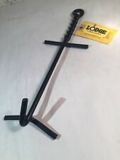 Lodge Camp Dutch Oven Lid Lifter. Black 9 MM Bar Stock for Lifting and Carrying