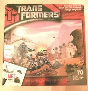 Transformers 70 pc Puzzle Pi3ces KidsvEducational Hobbie Games Family Fun Jigsaw