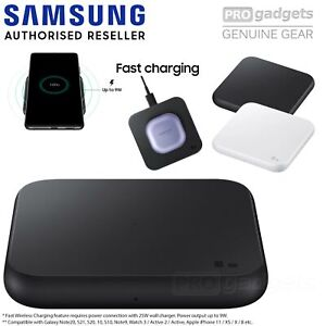 Genuine SAMSUNG Fast Qi Wireless Charger Pad EP-P1300T for Galaxy S21/Plus/Ultra
