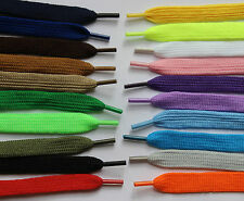 1 Pair 110cm Flat Shoelaces 20+ Colours Shoe Laces Football Boots Trainer Shoes