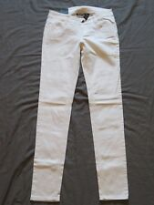New Women's Junior's City Streets Denim Pants White Skinny Jeans Low Rise Size 3