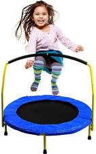 """BounceMaster Toddler Trampoline with handles: A 36"""" trampoline for kids with han"""