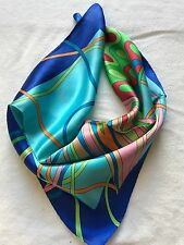 "100%SilkSatin Squre Scarf(20""x20""),Teal, High Quality,ShipFromUS"