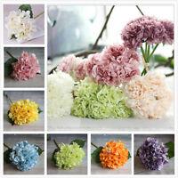 Peony Silk Flowers Bridal Bouquet Hydrangea Decor Flower Party Wedding Garden