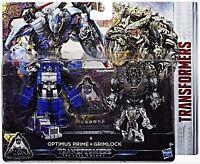 Transformers OPTIMUS PRIME & GRIMLOCK The Last Knight 2 Pack Figure Set by Hasbr