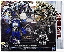 Transformers OPTIMUS PRIME & GRIMLOCK The Last Knight 2 Pack Figure Set by Hasbr