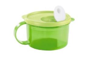 GREEN Tupperware Crystalwave Microwave 2 Cup Soup Bowl Stew Mug Work School