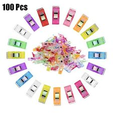 Assorted Colors and 3 Sizes Quilting Clips and Seam Ripper Scissors Soft Measure Tape for Sewing Binding Craft Paper Work and Hanging Little Things 90 Pieces Sewing Clips with Plastic Box Package