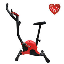 Cyclette belt cardio fitness allenamento bici da camera con computer rossa