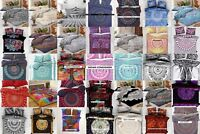 Queen Duvet Cover With 2 Pillow Cover Set Collage Cotton Indian Wonderful Art