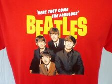 The Beatles Red Large T-Shirt American Tour 1964 Cotton