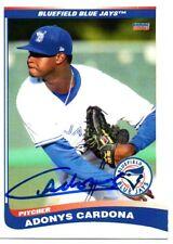 Adonys Cardona 2013 Bluefield Blue Jays Signed Card