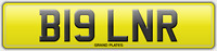 BIG REG B19 LNR NUMBER PLATE INITIALS REGISTRATION ASSIGNED FREE NO FEES RARE LR