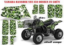 AMR Racing DECORO GRAPHIC KIT ATV Yamaha Banshee YFZ 350 SKULL CAMO B