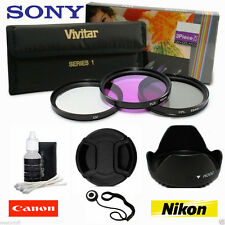 55MM UV CPL FLD Filter Kit for Sony Alpha SLT A37 A55 A57 A65 A77 / 18-55mm lens