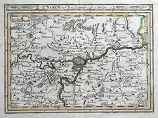 NAMUR, BELGIUM, Bodenehr original antique map c1705