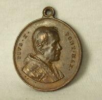 Medal Papal Pope Pope Dad Pius Pie Pio x Mater Bono Consilio Medal