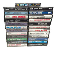 Country Music Cassette Tapes Lot of 25 Kenny Rogers Barbara Mandrell More Artist