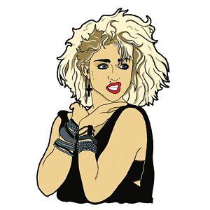 1980s Style Madonna Queen of Pop Vinyl Sticker