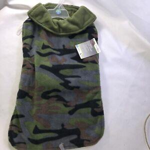 Good 2 Go Classic Cozy Dog Coat Camouflage Print Reversible L-XL 18-20 Inch